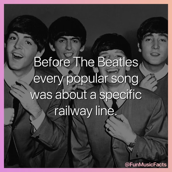 fake music facts about the beatles and how every good song was about the railway