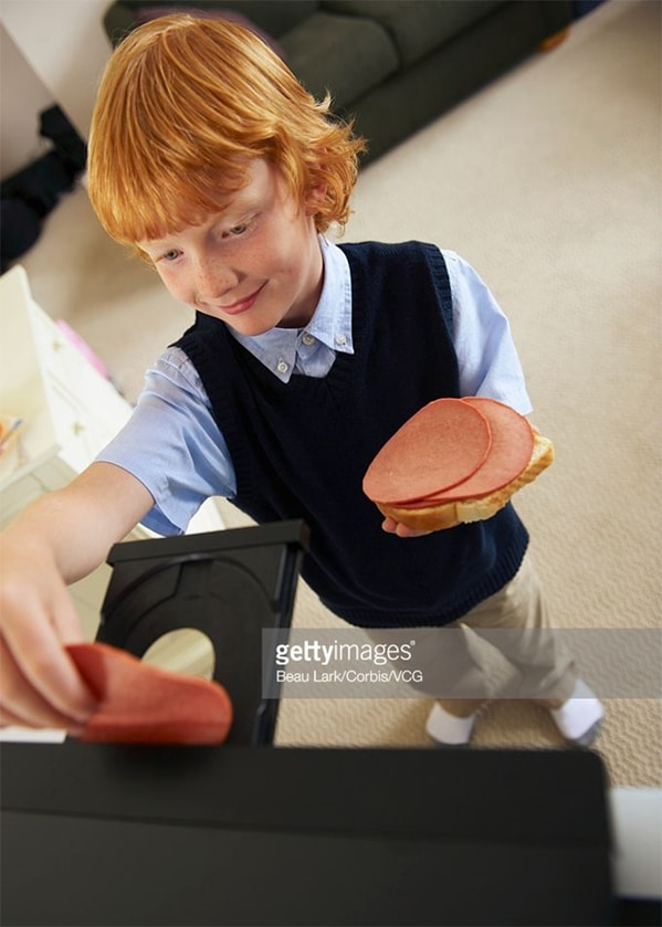 WTF stock photos bologna in the cd player