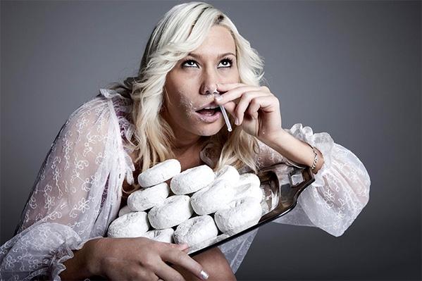 WTF stock photos cocaine doughnuts lady