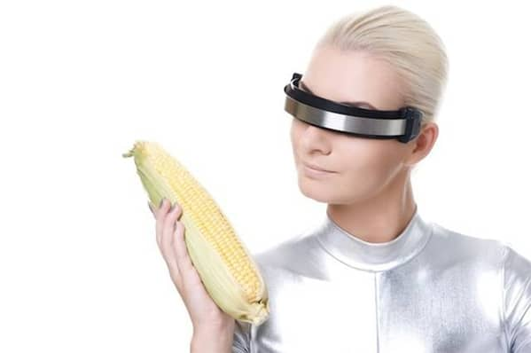 woman with corn WTF stock photos