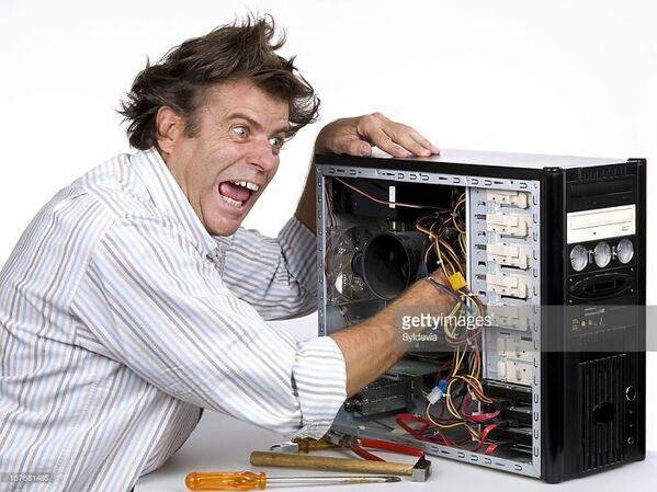 WTF stock photos computer fixing