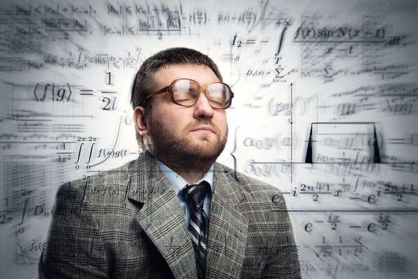 WTF stock photos math surrounding a man
