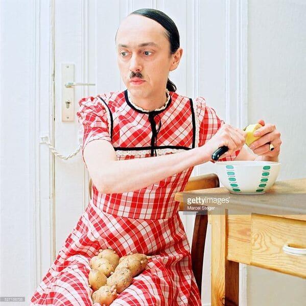 WTF stock photos hitler peeling potatoes