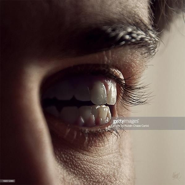 WTF stock photos teeth for eyes
