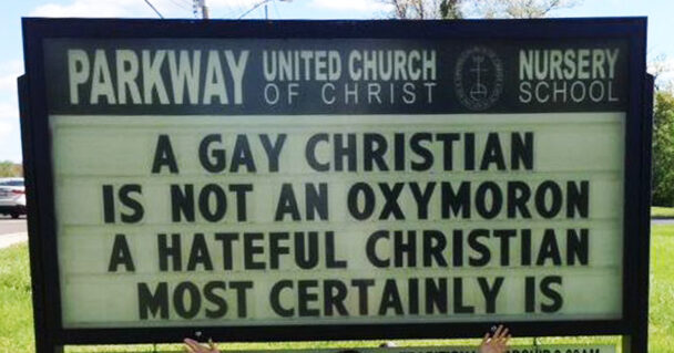 a gay christian is not an oxymoron but a hateful christian certainly is