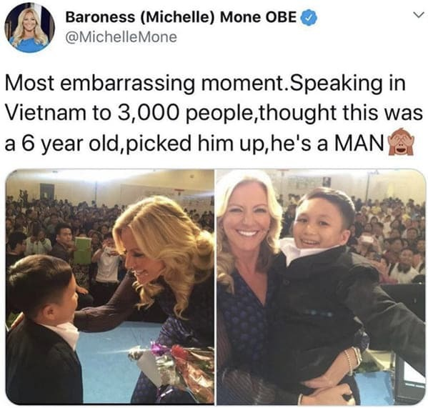 Tweet where woman held up a boy who turned out to be a short man, That awkward moment, best secondhand awkwardness 2020, embarrassing moments 2020, sad funny true stories, rejections