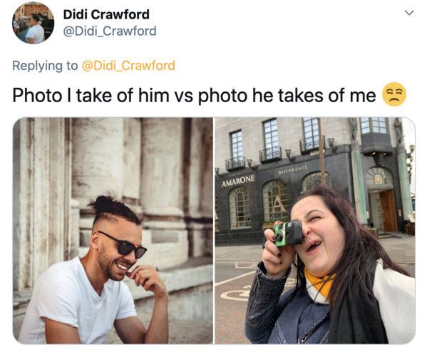 Boyfriends take pictures of girlfriends, twitter, tweets, Pics I take of my boyfriend vs pics he takes of me, funny bad photos taken by boyfriends