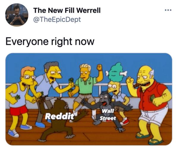 Funny tweets, reddit, stock market, GameStop, funny twitter response to GameStop squeeze, short stock, selling short, wallstreetbets, funny stock market memes, jokes about GameStop