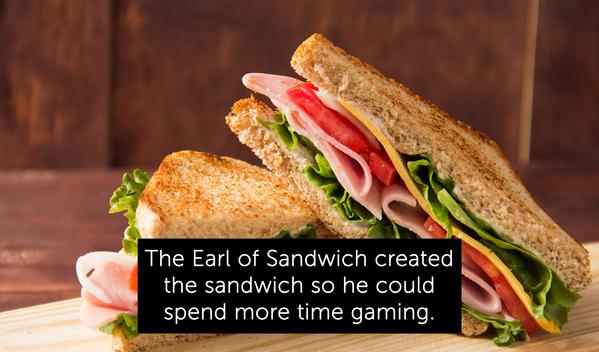 sandwich, random facts, earl of sandwich invention