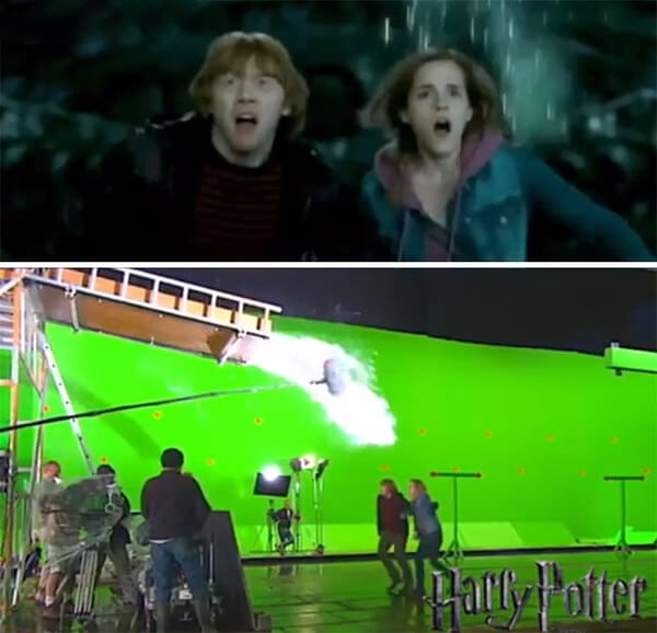Behind-the-scenes movies tricks, illusions used in movies, special effects, cool, interesting, film trivia, photos revealing the magic of cinema