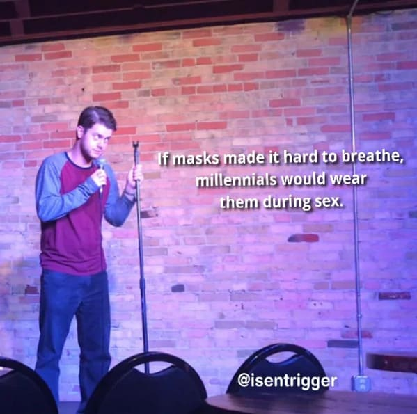 Jokes about coronavirus, funny standup jokes, standupshots, hilarious comedians, jokes about 2020, reddit jokes, funny memes, comedians on the internet, social media comics, COVID jokes