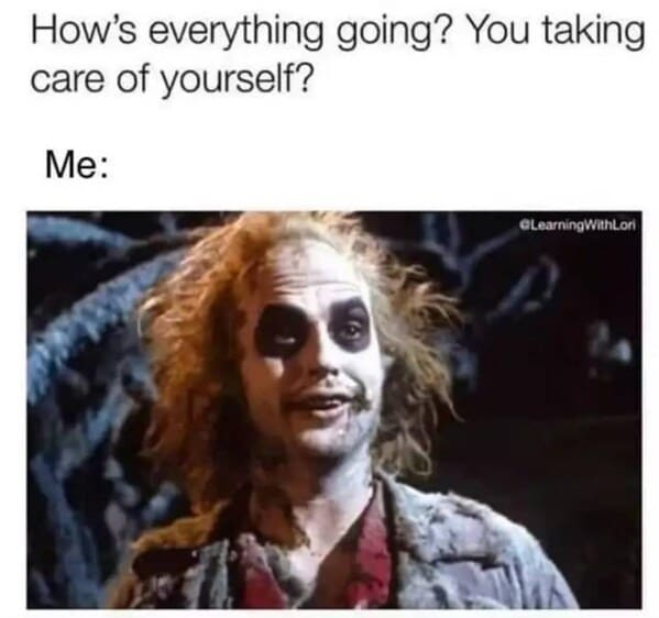 Self-deprecating memes, funny and dark jokes, funny posts about depression and anxiety, funny pics, humor about sadness, finding something funny about being messed up, sad, lol, pics