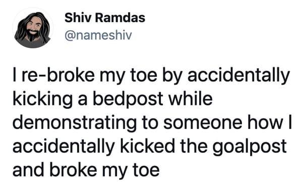 funny injuries, tweets, hurt in dumb way