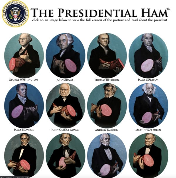 Presidents holding hams, best websites no one knows about, weird internet oddities, interesting internet sites, unknown websites, nostalgia