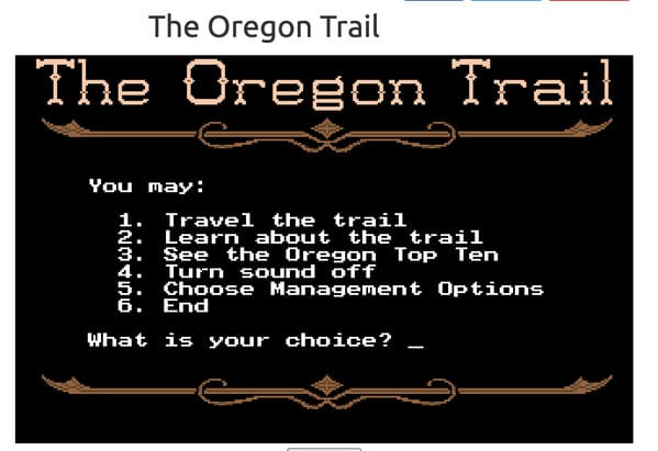 oregon trail original screen opening, best websites no one knows about, weird internet oddities, interesting internet sites, unknown websites, nostalgia