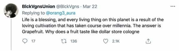 People debate the bottom tier fruits on a viral twitter thread, people talking about the worst food, fruit that is overrated, berries, grapefruit, funny hot takes