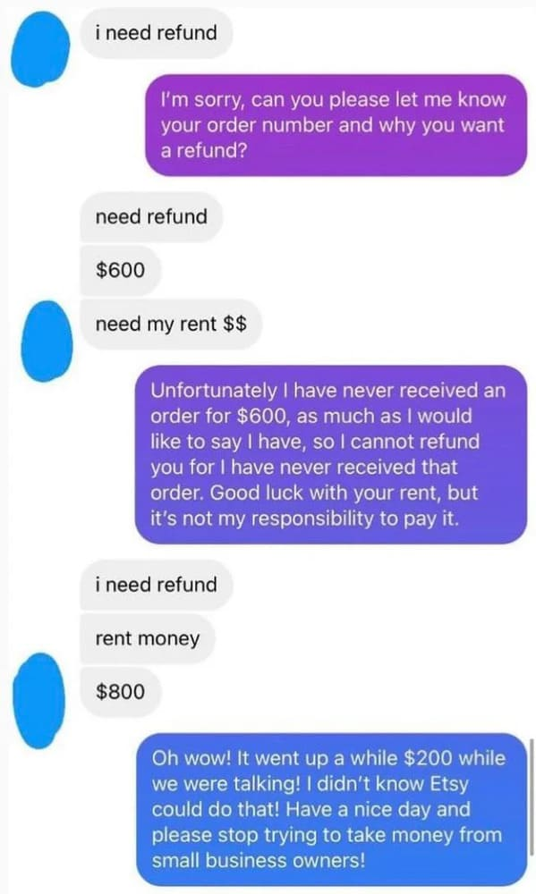 Entitled people, people who want stuff for free, choosing beggars, beggars can be choosers, dumb online bartering, people who can't negotiate, funny, rude, idiots, awful