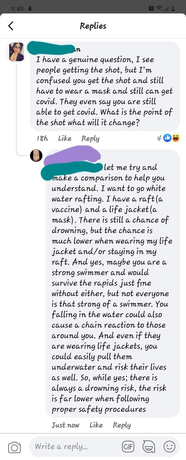 Anti-vaxxers destroyed by internet comments, funny vaccine comments, people who comment on anti vaxx moron posts, insane people on Facebook who won't take the vaccine, funny takedowns of antivaxx people, reddit, funny pics