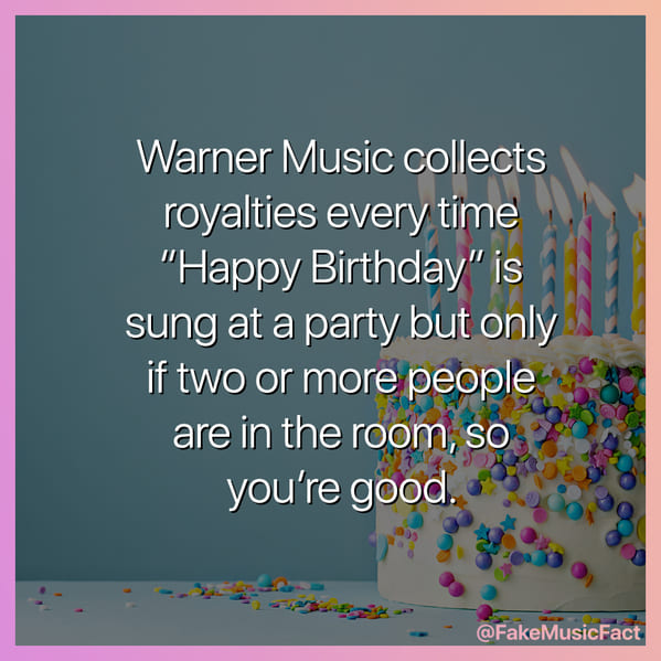 happy birthday royalty fact, Fake Music Facts Instagram, funny memes about bands, fake history, fake music history, hilarious memes, fakemusicfact, instagram, comedy, lol, jokes, memes, musicians