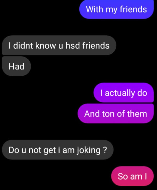 Funny self own texts, people roast themselves over text messages, mean texts, funny text exchange, reddit, suicidebywords