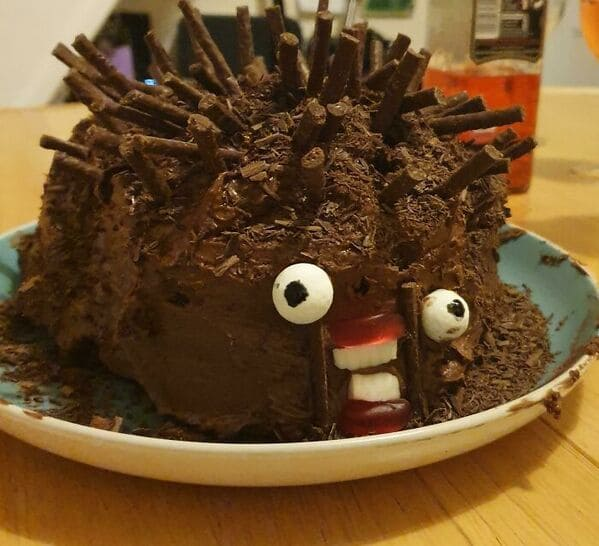 Hedgehog cake fails, nailed it, cakes with threatening auras, funny pictures of terrible bakers, funny meme, cakes, baking, lol