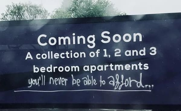 apartments available that you can't afford, Mildly vandalised, mildly vandalized, funny photos of people who fixed signs, hilarious edits on road signs, funny people who added stuff to passive-aggressive signs, funny pics, lol, fixed it, nailed it