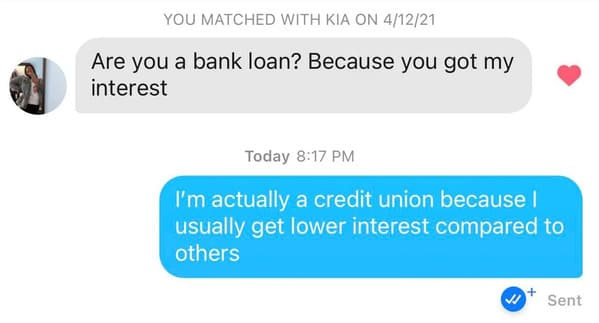 Puns on tinder that actually worked, funny dating app conversations, screenshots of tinder messages, funny weird tinder name puns, dad jokes