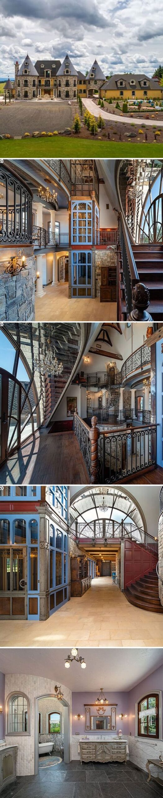 blue elevator house, Zillow gone wild, weird and funny real estate listings, real estate agents who did extra, lol, funny pics of houses, ridiculous houses to buy, zillowgonewild, instagram, humor, funny pics