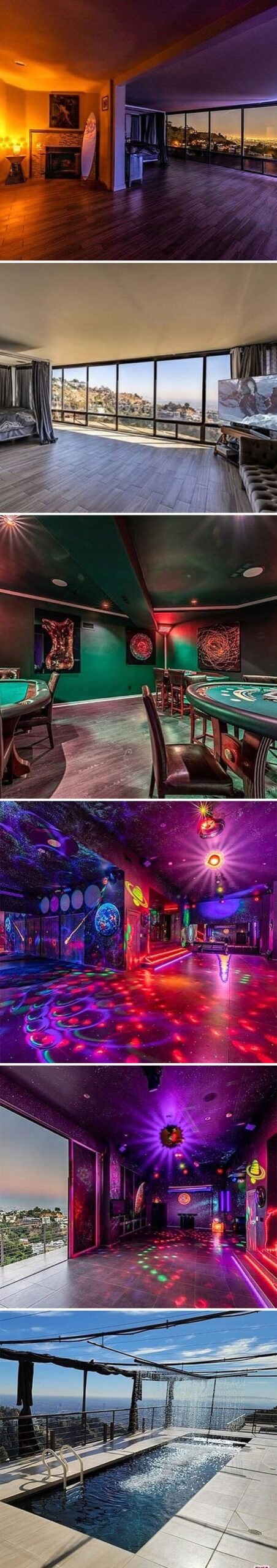 insane gambling room in pricey house looks like a casino, Zillow gone wild, weird and funny real estate listings, real estate agents who did extra, lol, funny pics of houses, ridiculous houses to buy, zillowgonewild, instagram, humor, funny pics