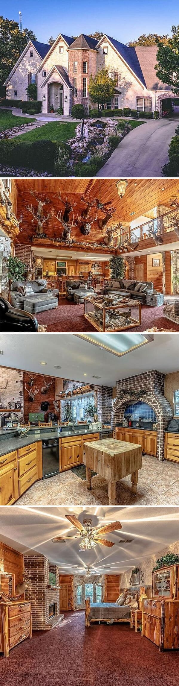 lots of deer on the wall, Zillow gone wild, weird and funny real estate listings, real estate agents who did extra, lol, funny pics of houses, ridiculous houses to buy, zillowgonewild, instagram, humor, funny pics