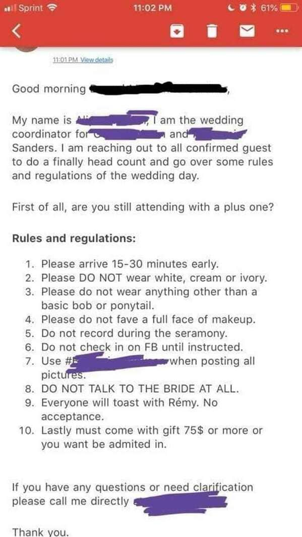 Entitled brides, stories about bridezillas, clients from hell, reddit, r choosing beggars, asking for stuff for free, for the exposure, weddings, marriage, nightmares