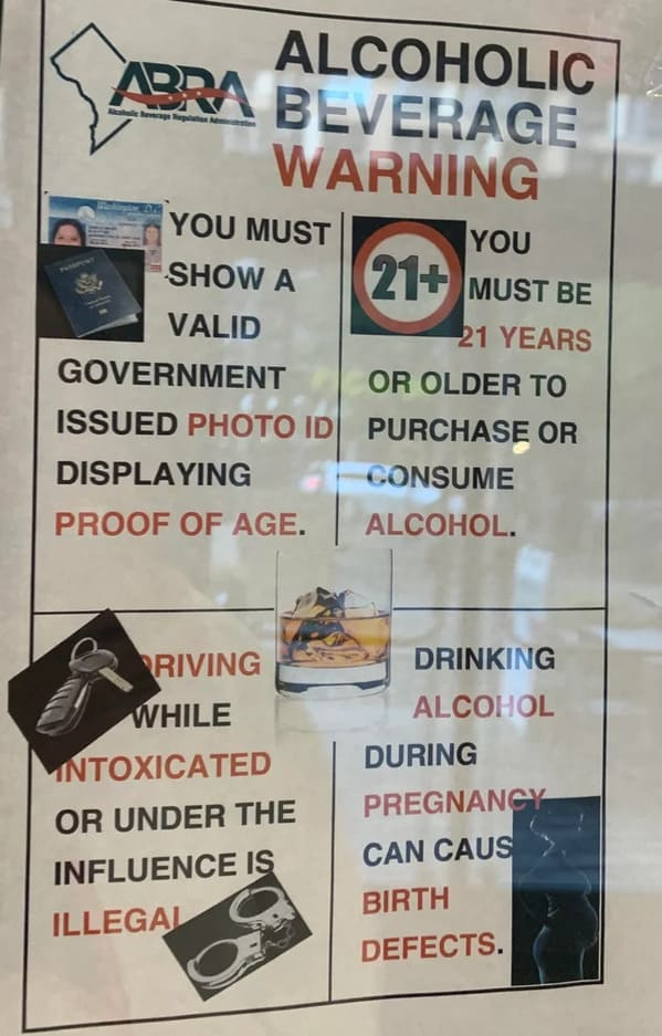 drunk psa sign but all the text is unreadable, Funny Graphic Design Fails, Bad deign, reddit crappy design, lol, poor planning, weird visual errors someone should fix, dumb designs, photos
