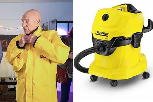 Funny twitter thread of Patrick Stewart as a vacuum cleaner, funny photos of sir Patrick Stewart, high fashion, viral tweets, Pandamoanimum