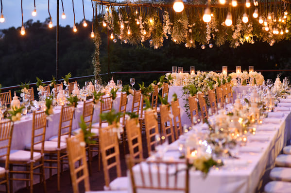 Reception hall set up for dinner, Funny wedding shower thoughts, Funny marriage thoughts, observations about getting married, wedding photos