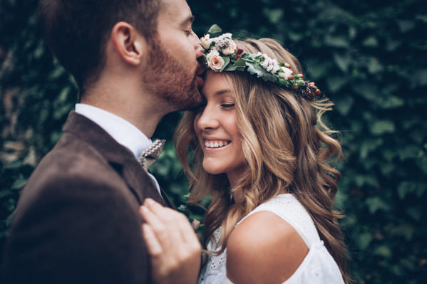 married people flower crown and suit, Funny wedding shower thoughts, Funny marriage thoughts, observations about getting married, wedding photos
