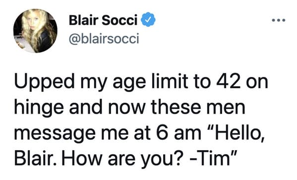 Funny dating app memes, jokes about Tinder, Lol, marriage, love, relationships, tweets, twitter observations about married life and dating, hinge, bumble, bad tinder profiles